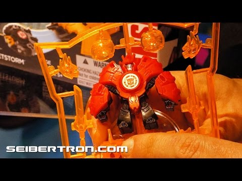 Minicon Deployers Demo with Drift and Fracture Transformers Robots In Disguise 2015 Toy Fair 2015