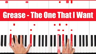 You're The One That I Want Grease Piano Tutorial Easy Chords