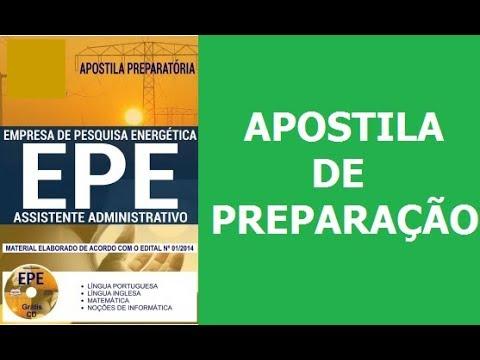 47b2c8e7e Concurso EPE 2018  Apostila Preparatória para Assistente Administrativo -  Apoio ADM