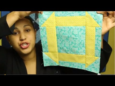 How To Make A Hole In  The Barn Door Quilt Block/ Churn Dash- Block#5 Of 12- Video Quilt Along
