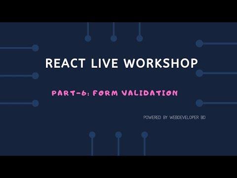 6. controlled component  && Form validation | React Js Bangla tutorial thumbnail