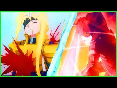 DEATH & Kirito God Mode Return? Kirito Vs SWORD TITAN  Sword Art Online Alicization Episode 22