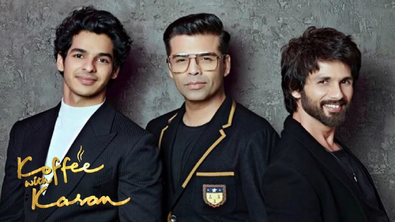 Image result for shahid kapoor and ishaan khattar koffee with karan