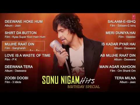 Sonu Nigam Romantic Songs Collection JUKEBOX   Deewana Tera, Mujhe Raat Din   T Series   YouTube