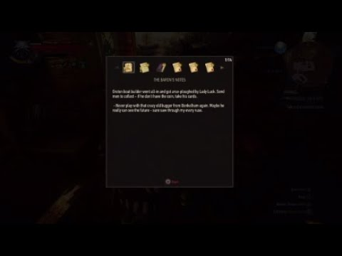 The Witcher 3 How To Get The Bloody Barons Gwent Card Youtube