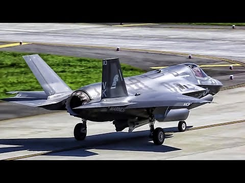 F-35B Strike Fighters Takeoff  • Show Of Force Against NK