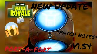 *NEW* Port-A-Fort Update 1.54 / v3.5 PATCH NOTES(Fortnite Battle Royale)