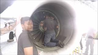 Boeing 737-800 Cfm56-7b Fan Blade Removal