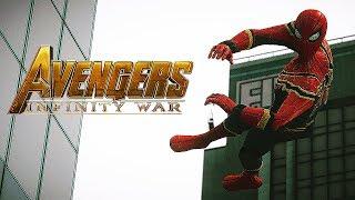AVENGERS: INFINITY WAR!! SPIDERMAN Iron Spider Suit VS IRON MAN ! (GTA 5 Mods)