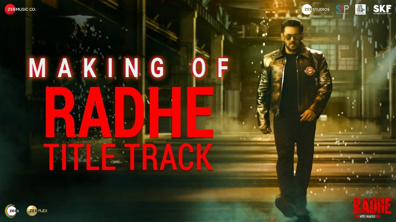 Radhe: Making of Radhe Title Track | Salman Khan | Disha Patani | Sajid Wajid