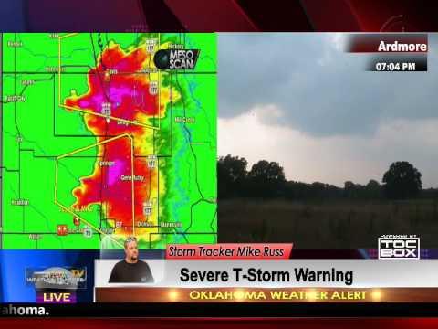Multiple Tornado Warnings Live across Oklahoma May 27, 2017