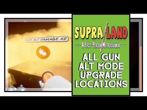 Supraland All Red Gun Alt Damage Upgarde Locations