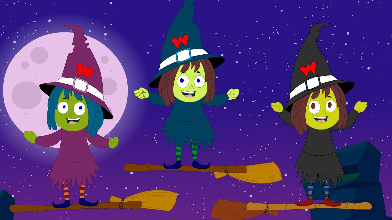 five little witches halloween special scary videos youtube