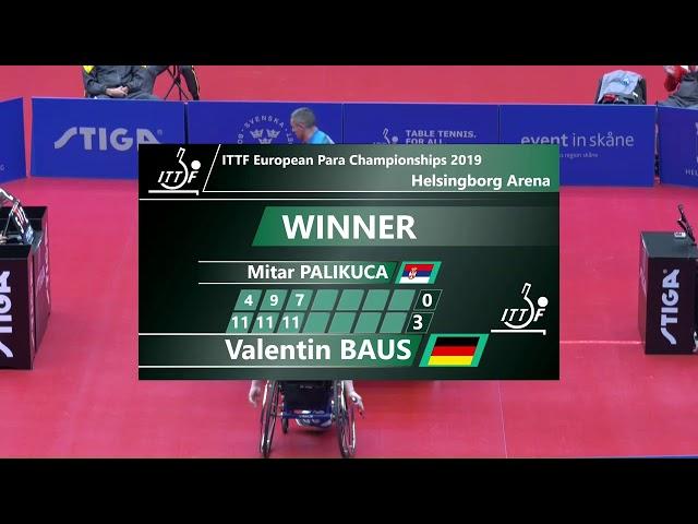 2019 European Para Table Tennis Championships - Day 3 | Table 1