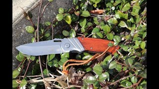 ELK RIDGE Wood Gentleman SPRING ASSISTED OPEN Folding 8 Inch POCKET KNIFE