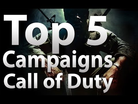 TOP 5 'Call of Duty Campaigns' - Modern Warfare, World at War, MW2, Black Ops, MW3, BO2, Ghosts & AW  