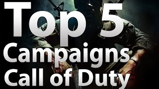 top 5 call of duty campaigns modern warfare world at war mw2 black ops mw3 bo2 ghosts aw