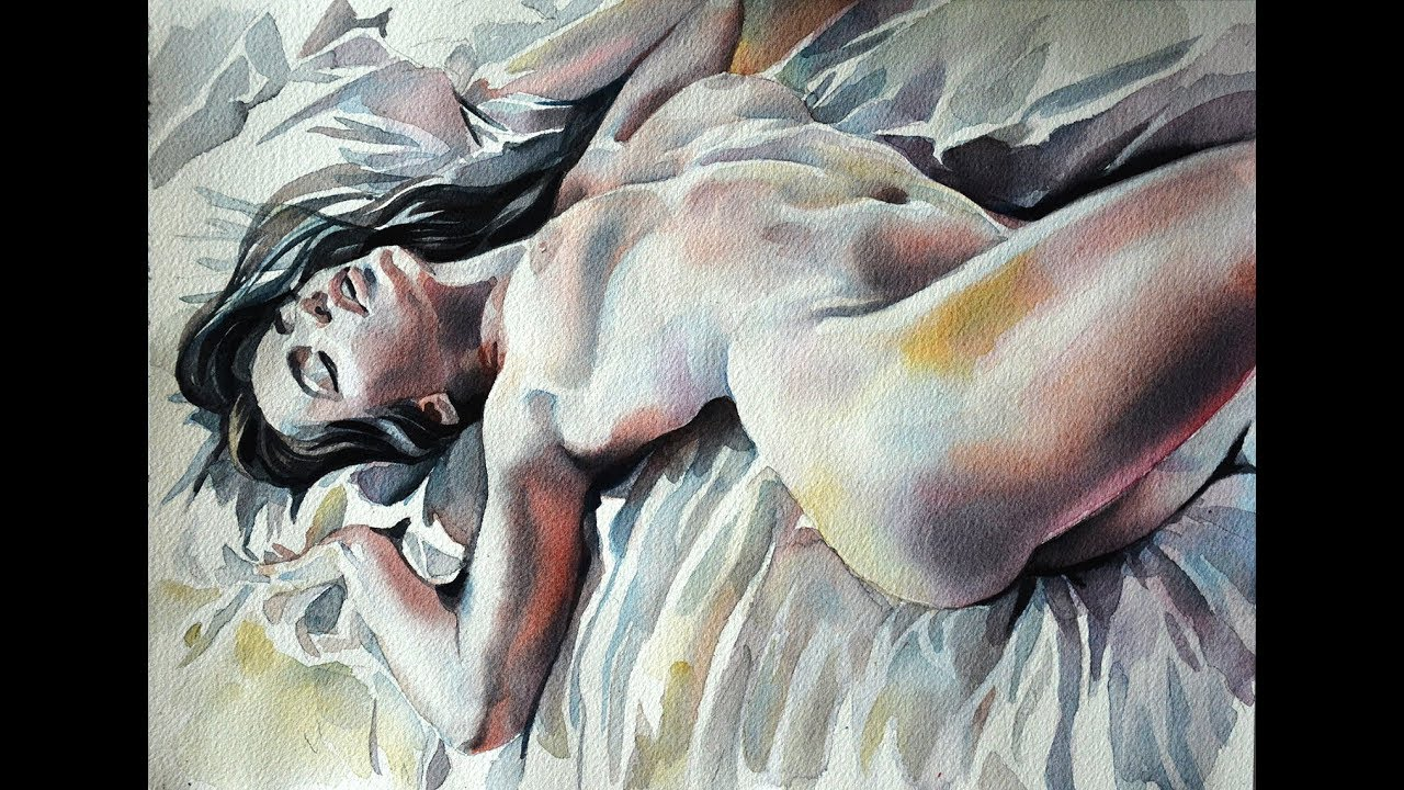 Nude Laying On Her Back In A Clearing