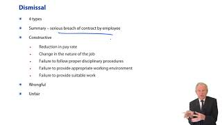 Employment Law, Dismissal - ACCA Corporate and Business Law (LW) (ENG)