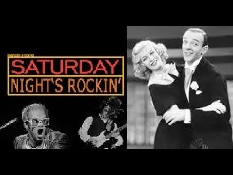 Elton John Saturday Night S Alright 1975 Ft Fred Astaire Ginger Rogers Tap Dance 1945 Youtube