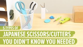 5 Types of Japanese Scissors and Cutters You Didn't Know You Needed