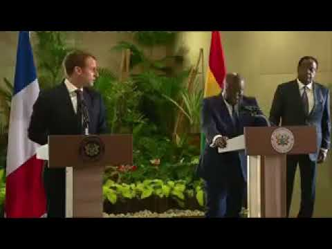 Ghanaian president says it to French President as it is-- makes me dream of Ambazonia