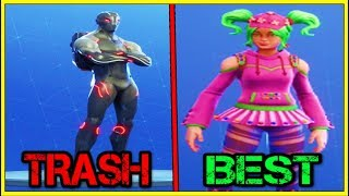 RANKING EVERY BATTLE PASS SKIN FROM WORST TO BEST (SEASON 4/3/2!) | Fortnite Battle Royale!