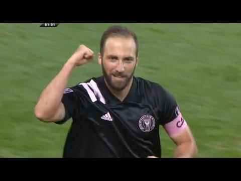 Gonzalo Higuain Free Kick Goal   Inter Miami CF 2-1 New York Red Bulls 07/10/2020