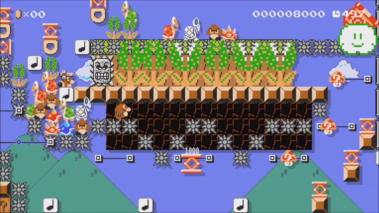 Image result for Mario Maker level