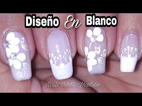 Fácil Diseño De Uñas En Color Blancouñas Decoradas En