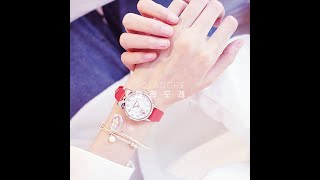 Candycat 여성 패션 아날로그 손목시계 인조가죽 …