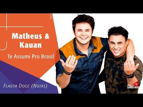 Matheus & Kauan - Te Assumi Pro Brasil  - Flauta Doce Notas