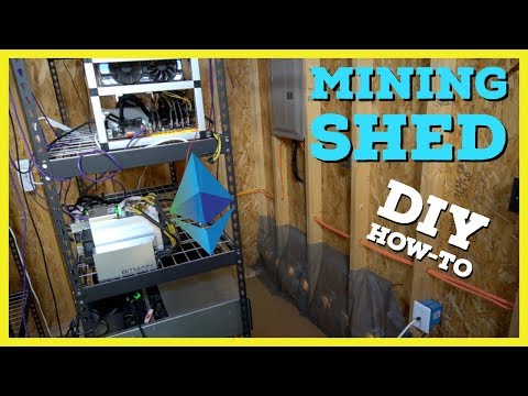 How To Build Cryptocurrency Mining Shed | What I learned Mining @ Home