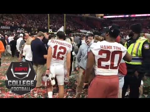 Alabama kicker Andy Pappanastos celebrates the win after missing FG at the end of regulation | ESPN