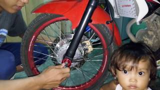Cara memasang jalu as roda vixion universal