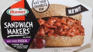 Hormel Sandwich Makers: Meat Lovers Pizza Food Review