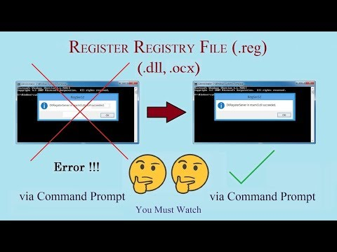 How To Register Registry File (.DLL, .OCX) Via Command Prompt