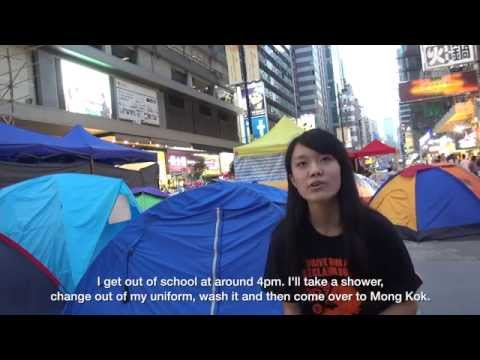 A day in the life of a student at Occupy Mong Kok