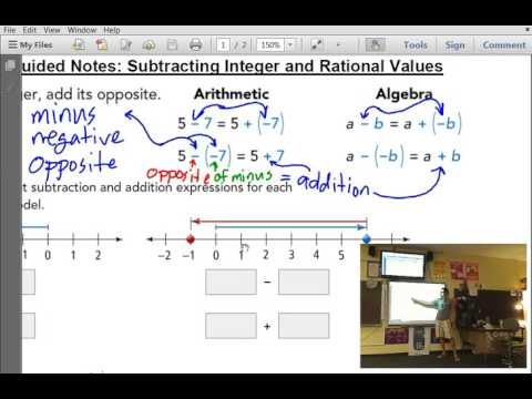 M7 - 8.26.16 - 4.4 - Subtraction with Negatives