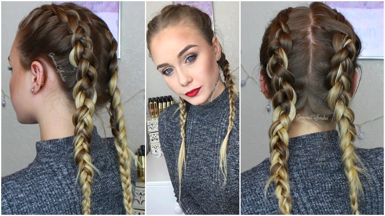 How To French Braid With Clip In Hair Extensions