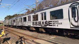 JR外房線明大前踏切209系B.B.BASE千マリJ1編成。
