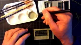 An O Scale Mid-century Motel Scratch Build Part 3 - Windows And Siding