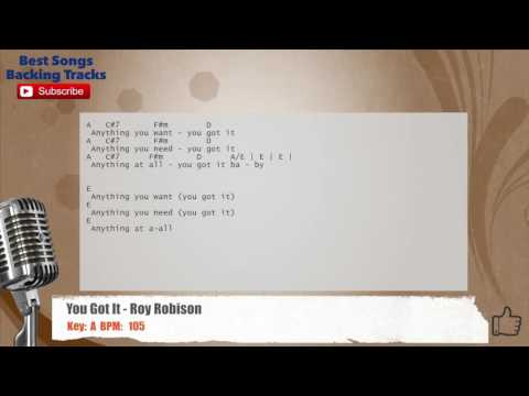 You Got It - Roy Orbison Vocal Backing Track with chords and lyrics