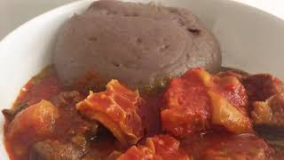 HOW TO MAKE AMALA (YAM FLOUR)
