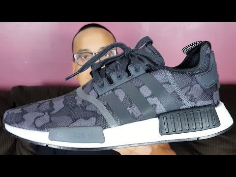 the latest c631e 33d34 Adidas NMD R1 Duck Camo Core Black 2018 Review!