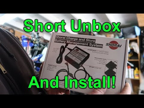 Shorai Charge and Store Unbox with Quick Charge Install