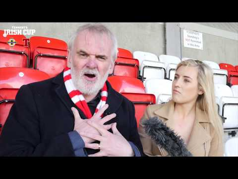 Cliftonville's 'biggest fan' Tim McGarry talks to our Tennent's Irish Cup reporter