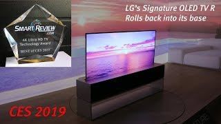 Best of CES 2019 | LG Signature Rollable  4K OLED TV R | SmartReview.com