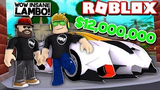 MY BRAND NEW $12,000,000 LAMBO in ROBLOX VEHICLE SIMULATOR | DRAG RACES | CAR STUNTS