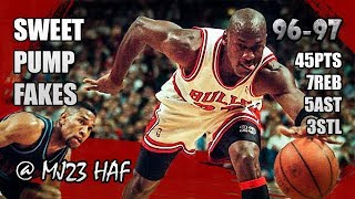 Michael Jordan Highlights vs Cavaliers (1996.12.28) - 45pts! Welcome to His Pump Fake Party!